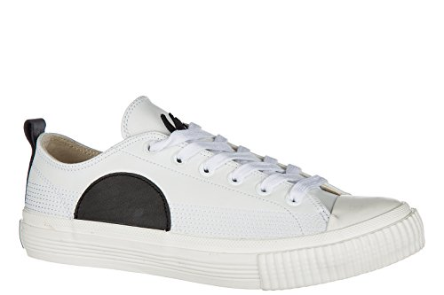 McQ Alexander McQueen Mens Shoes Leather Trainers Sneakers Plimsoll Low Top SWA RRP4I