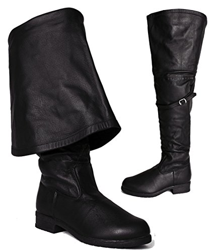 SharpSpirit Pirates The Caribbean Western Steampunk Cosplay Renaissance Faire Men's Boots