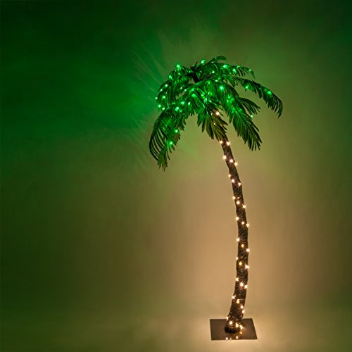 Indoor Outdoor Lighted Palm Tree - 1