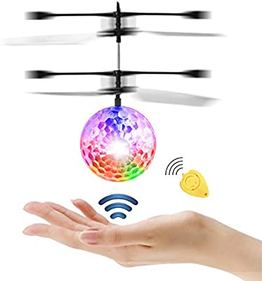 Diswoe Pelota voladora Flying Ball Crystal Intermitente LED RC ...