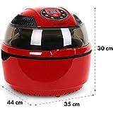 Klarstein VitAir • Freidora de aire caliente • Freidora sin aceite • Asar • Cocer • Placa Halógena •…
