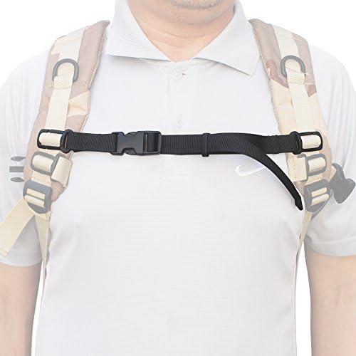 Adjustable Sack Bag Backpack Webbing Sternum Chest Harness Buckle Clip Strap LH