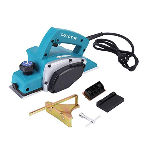 Electric Wood Hand Planer,110V Electric Wood Planer Door Plane Hand Held With 3-1/4 planer Woodworking Hand Surface