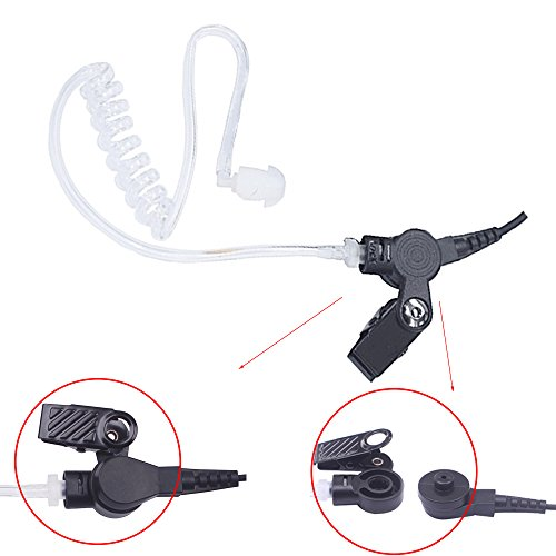Bingle 2 Pin Covert Earpiece Headset for Kenwood with Air Acoustic Tube Push To Talk and Mic for HYT Puxing Wouxun Baofeng 2 way radio(MRT-KT2) by BINGLE (Image #2)
