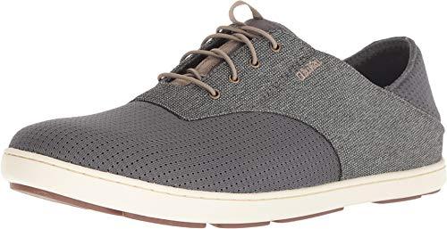 OLUKAI Men's Nohea Moku Shoe, Charcoal/Clay, 14 M US