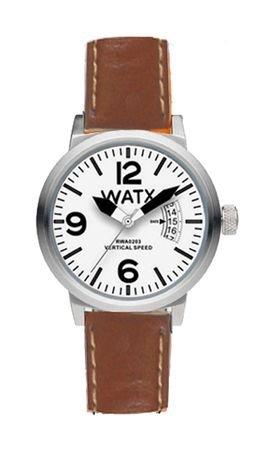 Watx Vertical Speed Reloj para Mujer Analógico de Cuarzo con Brazalete de Piel de Vaca RWA0213: Amazon.es: Relojes
