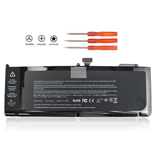 FLYTEN mac Book pro Battery for MacBook pro 15 inch Laptop A1321 (Only fit Mid 2009,Mid 2010 Version) MB985CH/A MB986J/A MC118LL/A MC371TA/A MC372X/A MC373ZP/A 661-5211 661-5476 12 Months Warranty