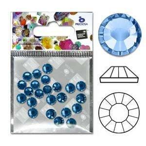 Preciosa Viva Flatbacks 30Ss(6.4Mm) Light Sapphire - Pkg Of 12 Czech Glass Beads - 30ss Sapphire