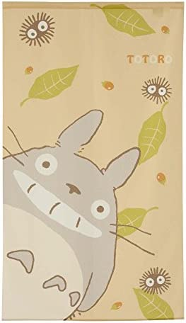 Studio Ghibuli Totoro Noren Curtain Tapestry Totoro Face Design