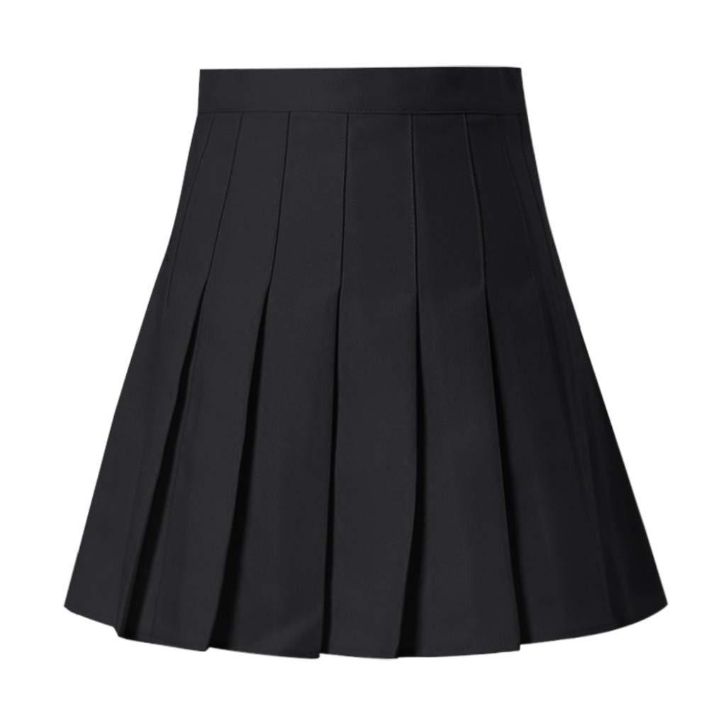 Womens Fashion High Waist Pleated Mini Skirt Slim Waist Casual Tennis Skirt