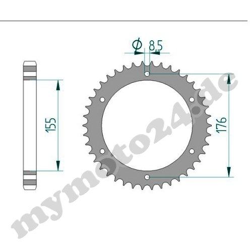 Bj.2010 515NJ DID Kettensatz Stahl Triumph Speed Triple 1050 18-42-106 DID530VX Endlos