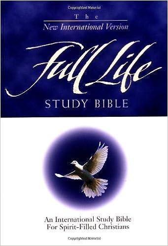 Niv Full Life Study Bible Donald C Stamps 9780310916932 Amazon