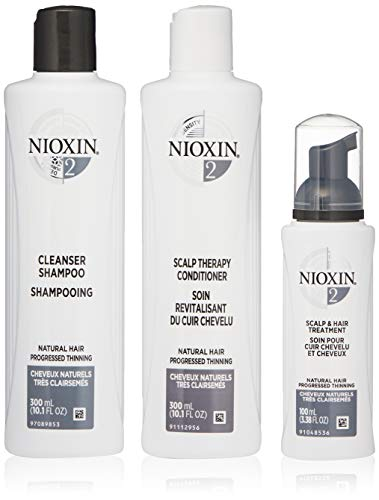 Nioxin System 1 Cleanser - Nioxin System 2 Starter Kit Cleanser, Scalp Therapy & Scalp Treatment natural Hair Progressed Thinning 1 kit