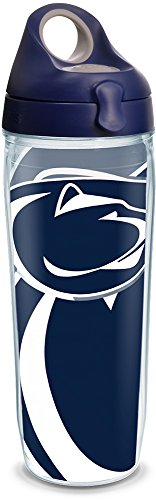 Tervis 1289336 NCAA Penn State Nittany Lions Water Bottle With Lid, 24 oz, Clear
