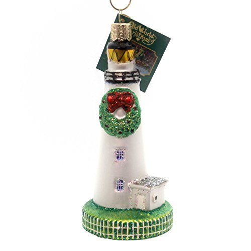 - Old World Christmas Ornaments: Ocracoke Lighthouse Glass Blown Ornaments for Christmas Tree