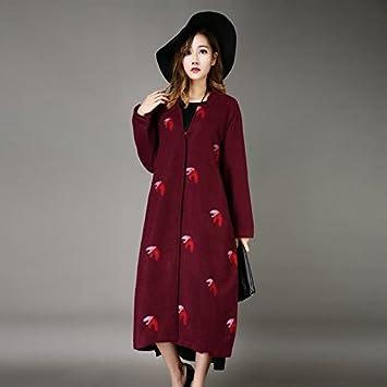 YYYIFU TT&FUSHI Abrigo de Mujer de otoño e Invierno de Alta Gama Chaqueta de Cachemira de