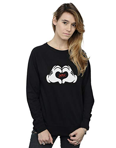 Mickey Camisa De You Entrenamiento Loves Disney Mouse Negro Mujer RnTO44