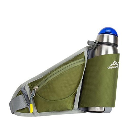 Wmshpeds Ultra-fina ejecución móvil personal fitness fitness stealth satinado bolsa anti-robo de una botella de agua al aire libre exterior pequeños bolsillos C