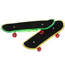 MonkeyJack LED Light Finger Board Mini Skateboard for Tech Deck Boy Kids Children Toys