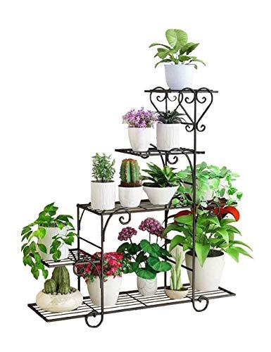 YJLGRYF Flower Racks Classic Ladder Plant Stand Art Flower Pot Holder Rack Planter Supports Garden & Home Decorative Pots Containers Stand, Pot Unit Pot Storage Rack Magazine Rack 25x88x95cm Display - Magazine Ladder