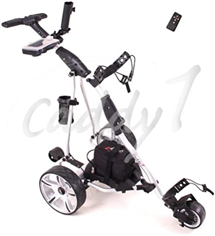 Caddyone Elektro Golf Trolley 450 Mit Funkfernbedienung Amazon De Sport Freizeit