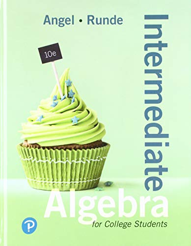 Intermediate Algebra For College Students (10th Edition)