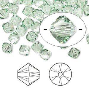 (Swarovski Crystal 5328 6mm XILION Chrysolite Crystal Bicones - 24 Pack )