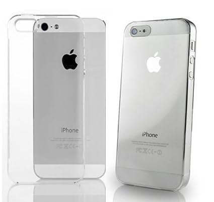 26e0a5504f0 Funda gel Iphone 5 Transparente + 1protector de pantalla: Amazon.es ...