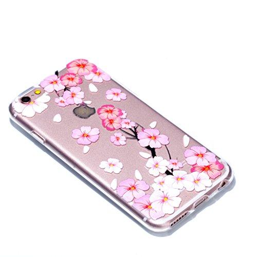Crisant Case Cover For Apple iPhone 6 6S 4.7'' (4,7''),Pétales roses Premium gel TPU souple Très mince Transparent Clair Bumper silicone protection Housse arrière coque étui Pour Apple iPhone 6 6S 4.7