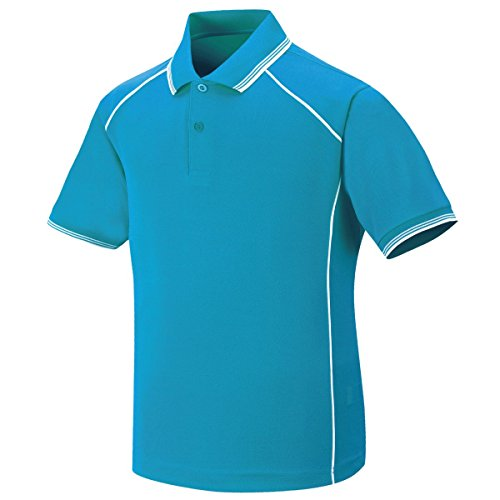 myglory77mall Mens Coolmax Coolon Dryfit Polo Collared piping tshirt Top Tee US XS(M tag) Water
