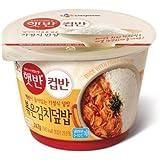 Korean CJ Cupbahn Hetbahn Microwavable Rice Bowls (Stir Fried Kimchi)