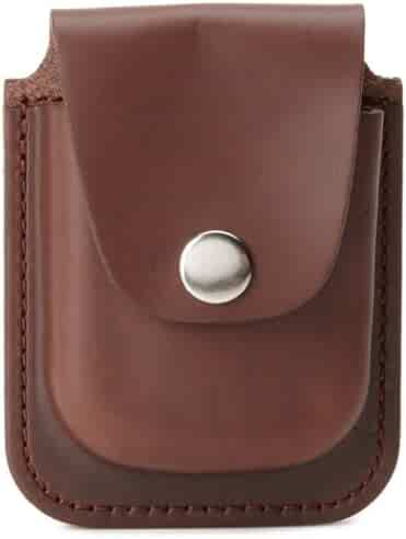 Charles-Hubert, Paris 3572-5 Brown Leather 56mm Pocket Watch Holder