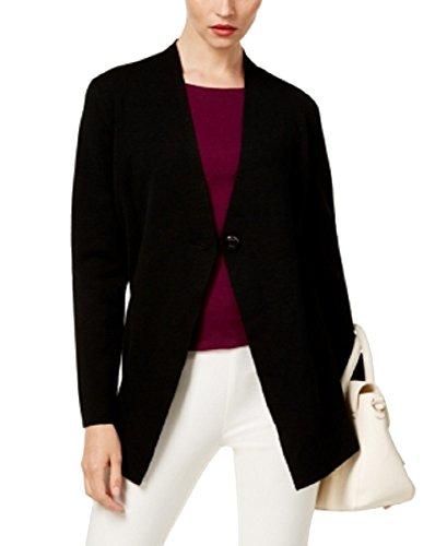 Alfani Single-Button Sweater Coat (Deep Black, XL) (Alfani Single)