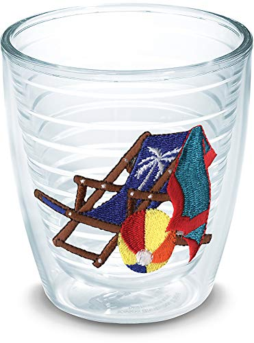 (Tervis 1035645 Beach Chair Blue Tumbler with Emblem 12oz,)