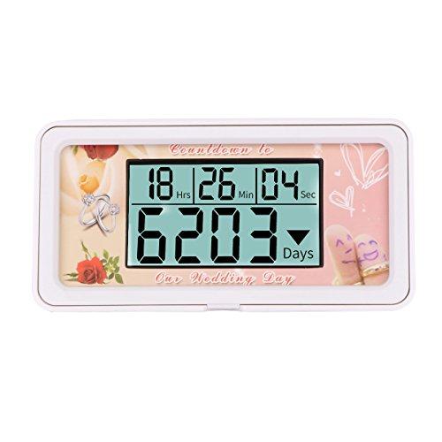 (Digital 9999 Days Countdown Clock Timer (Wedding))