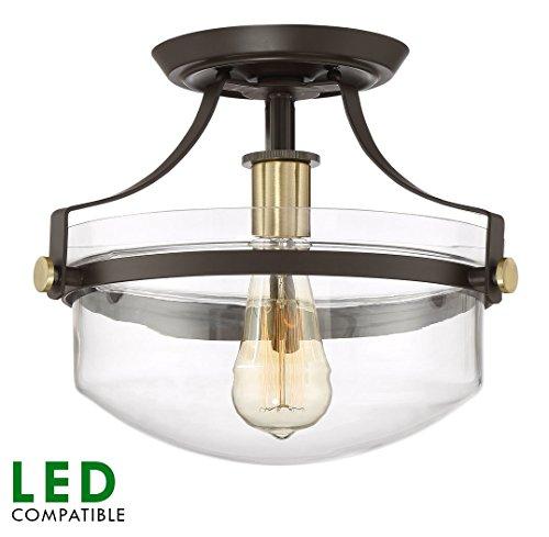 """Revel Zurich 12"""" Modern Semi-Flush Mount Ceiling Light W"""