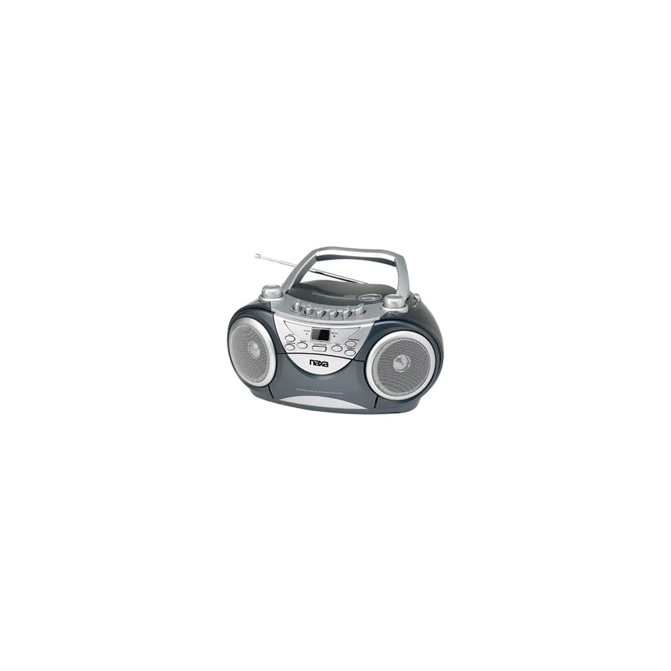 NAXA NX 237 Portable VCD//CD AM/FM Stereo Radio Cassette Player/Recorder w/Game Function and Remote Control