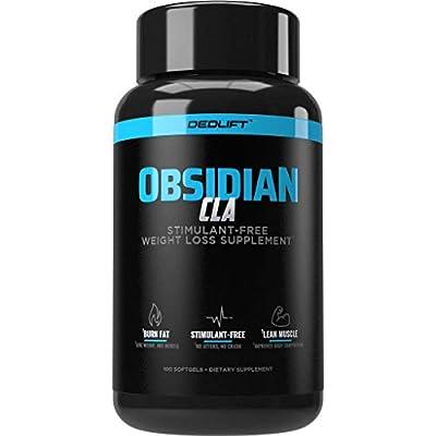 DEDLift Obsidian CLA, Stimulant-Free Weight Loss Supplement, 100 Softgels