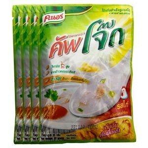 Jasmine Rice (Hom Mali Rice) - Knorr Jok Instant Porridge Chicken Flavour 35g. (Pack of 4)