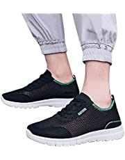 Sneakers for Men Lace-Up Mesh Hollow Summer/Autumn Breathable Sandals Fashion Soft Leisure Running Mens Sport Shoes
