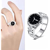 Women Men Quartz Dial Analog Watch Finger Ring Personalized Jewelry