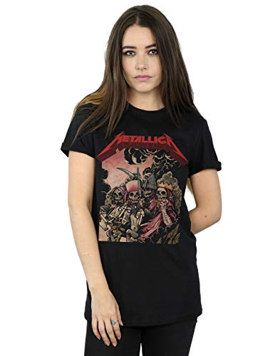 Metallica Women's The Four Horsemen Boyfriend Fit T-Shirt Black XXX-Large