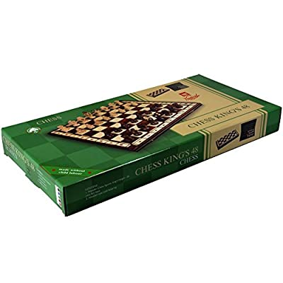 Wegiel Royal 48 European Wooden Handmade International Chess Set: Toys & Games