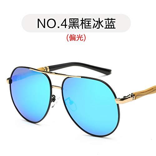 Black de Burenqiq Sol frame blue de Negro Gafas ice Color Metal Moda conducción de polarizadas de Gafas Mercurio Blanco Hombre Marco Gafas Sol para polarizadas Espejos de de rSTfrWp4P