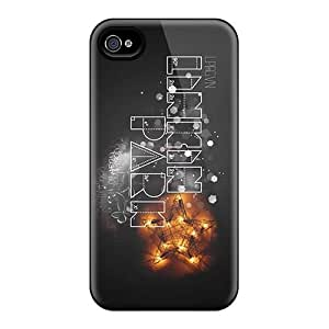 Scratch Resistant Hard Cell-phone Cases For Iphone 4/4s (ESF6980zksl) Support Personal Customs HD Linkin Park Band Series