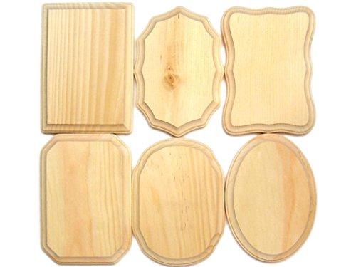 Demis Wood Plaques DemisWoodPlaquesBulkAst5x736pc Bulk AST 5x7 36pc