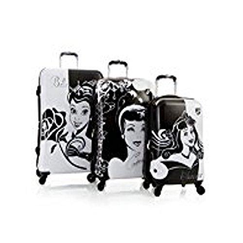 Heys Disney Princess Aurora, Cinderella and Belle Hardside Expandable Spinner Luggage Set