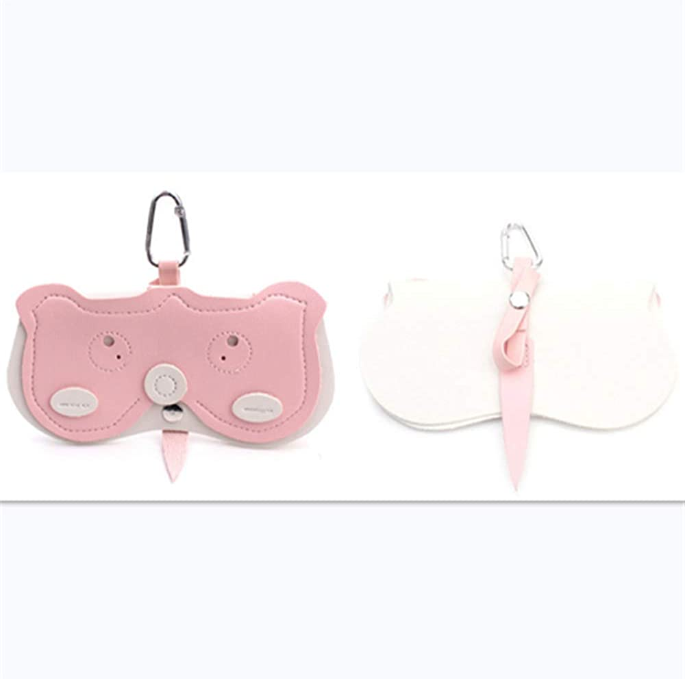 LJYY glasses case Cartoon Sunglasses Bag Portable Ins Windproof Leather Eyeglasses Clip Multi-function Pendant C1