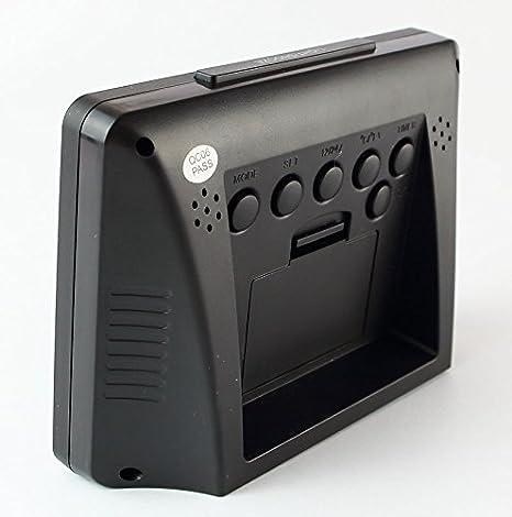 Reloj con Termómetro Despertador, Reloj Despertador 2619S