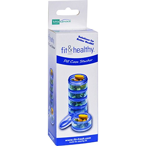 - Fit and Healthy Pill Case Stacker - Each section holds up to 20 tablets - (Pack of 2)